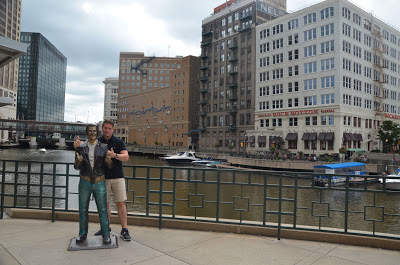 milwaukee riverwalk + the fonz