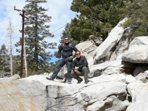 geschafft, auf dem Gipfel des Mount San Jacinto