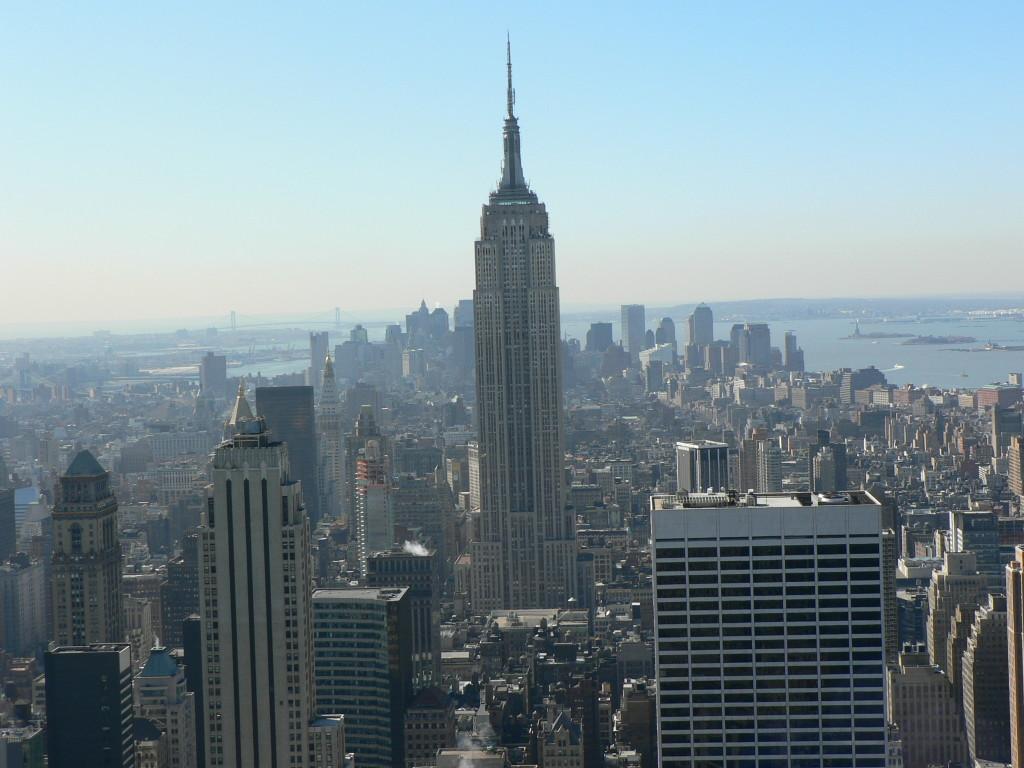 Blick vom Dach des Rockefeller Centers