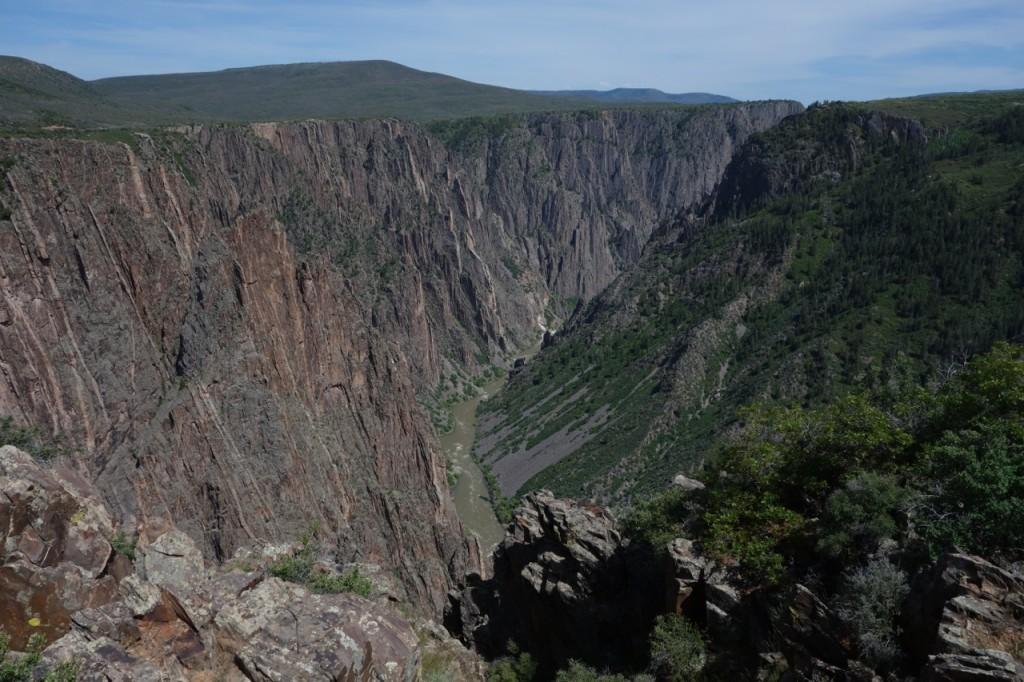 Blick in den Black Canyon vom South Rim