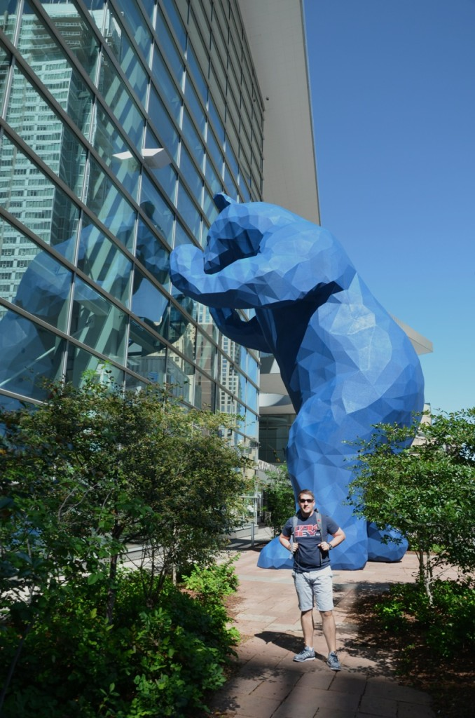 der Bär vor dem blauen Bär