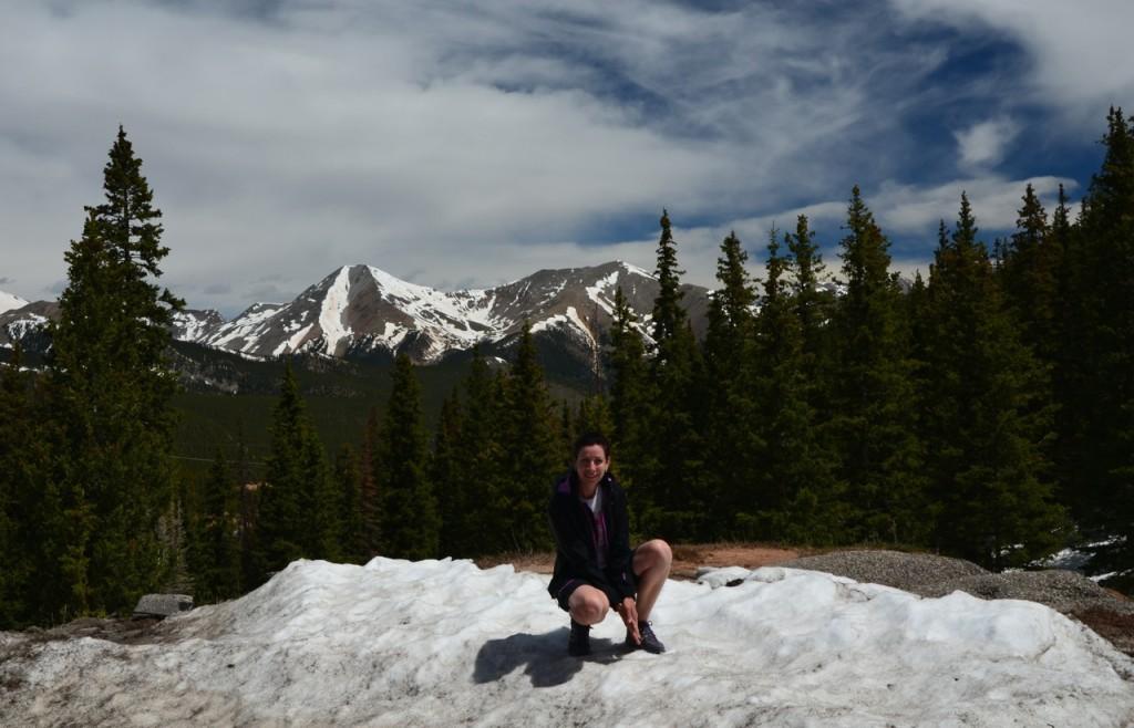 """ein bisschen Schnee auf dem """"Hügel"""" liegt noch"""
