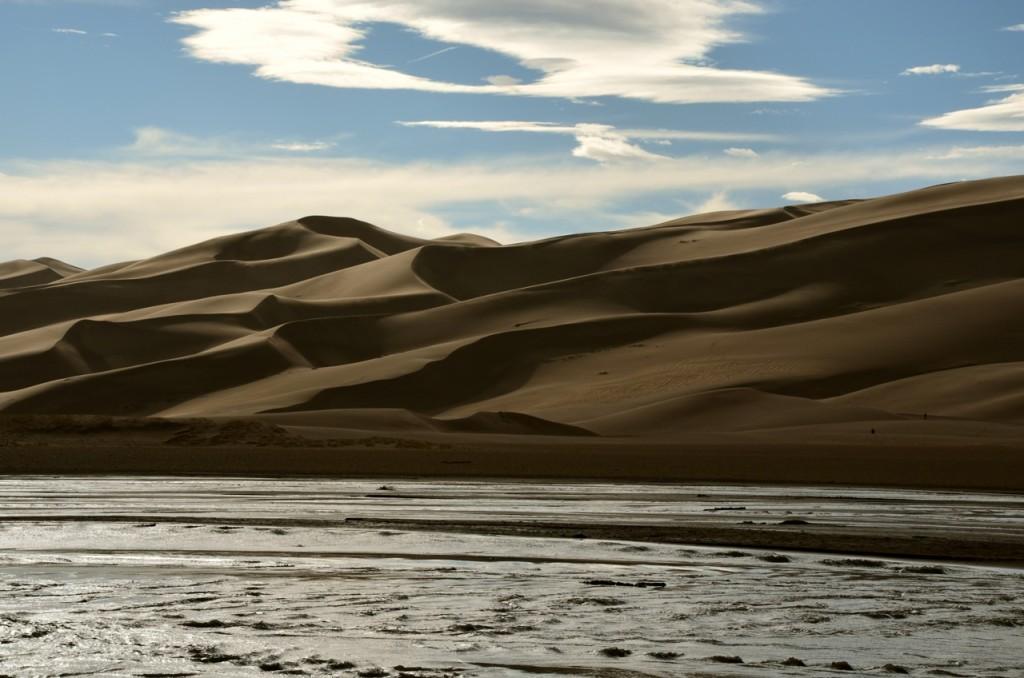 die Sanddünen im Abendlicht