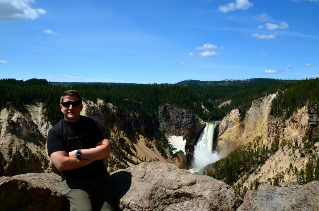 Blick vom Artist Point auf dem South Rim auf die Lower Falls