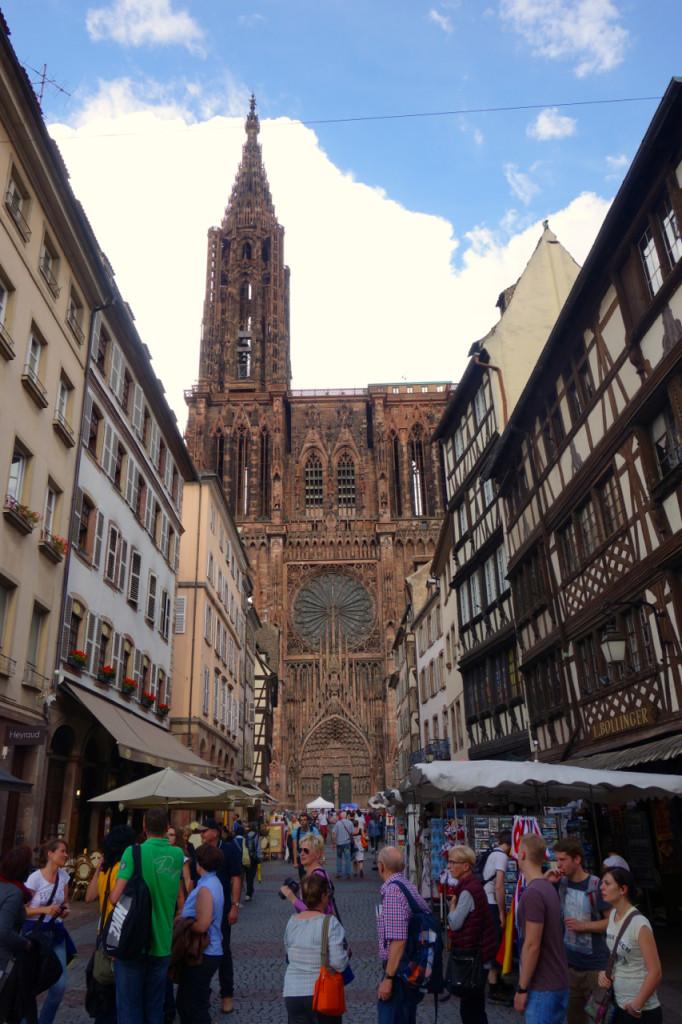Strasbourger Münster im Hintergrund