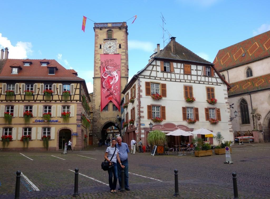Metzgerturm im Hintergrund